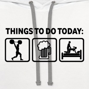 Weightlifting Plan For Today Funny T Shirt - Contrast Hoodie
