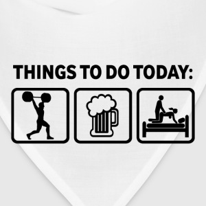 Weightlifting Plan For Today Funny T Shirt - Bandana