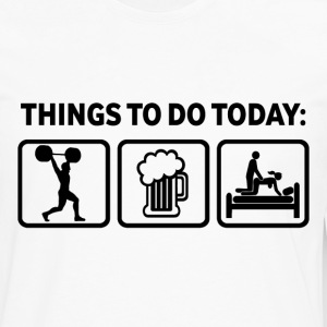 Weightlifting Plan For Today Funny T Shirt - Men's Premium Long Sleeve T-Shirt