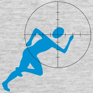 Joggers in the crosshairs - Men's Premium Tank