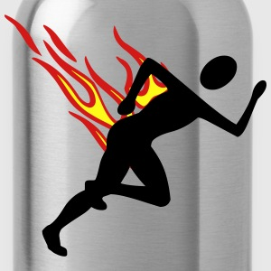 Jogger with flames - Water Bottle