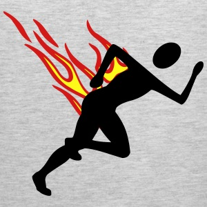 Jogger with flames - Men's Premium Tank