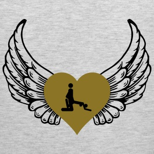 From behind heart wings - Men's Premium Tank