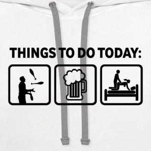 Funny Juggling Things To Do - Contrast Hoodie
