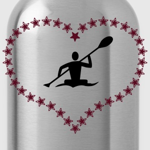 Canoeing in the asterisk heart - Water Bottle