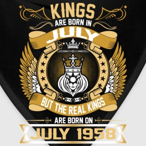 The Real Kings Are Born On July 1958 T-Shirts - Bandana