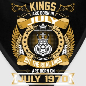 The Real Kings Are Born On July 1970 T-Shirts - Bandana