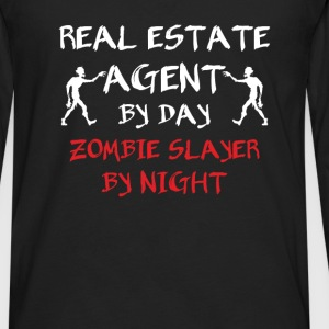 Real Estate Agent - Real estate agent by day zombi - Men's Premium Long Sleeve T-Shirt