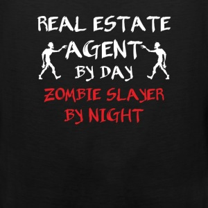 Real Estate Agent - Real estate agent by day zombi - Men's Premium Tank