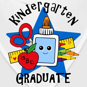 School Supplies Kindergarten Grad Kids' Shirts - Bandana