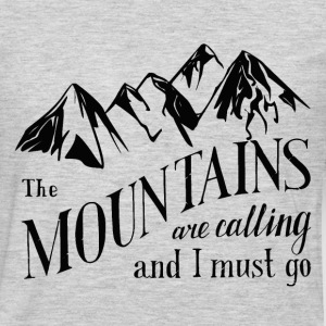 the mountains . calling T-Shirts - Men's Premium Long Sleeve T-Shirt