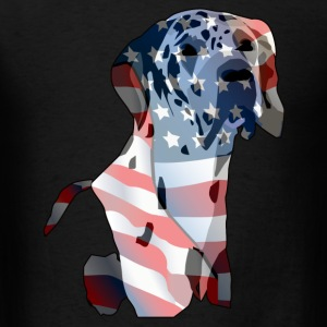 Patriotic rendition of a Great Dane - Men's T-Shirt
