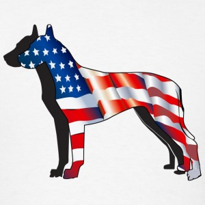 Patriotic Great Dane - Men's T-Shirt