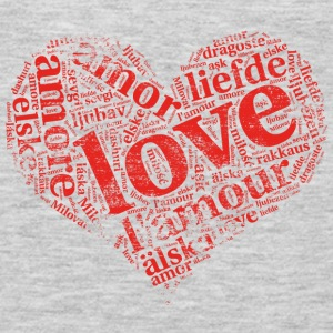 red grunge heart LOVE in different languages Tanks - Men's Premium Long Sleeve T-Shirt