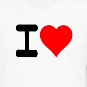I love - Men's Premium Long Sleeve T-Shirt