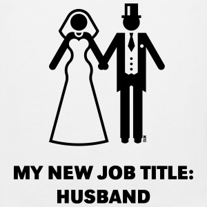 My New Job Title: Husband (Groom / Wedding) T-Shirts - Men's Premium Tank