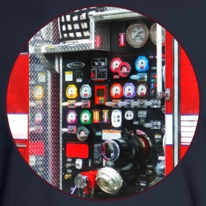 Colorful Gauges on Fire Truck Long Sleeve Shirts - Men's Long Sleeve T-Shirt