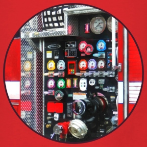 Colorful Gauges on Fire Truck Bags & backpacks - Men's T-Shirt