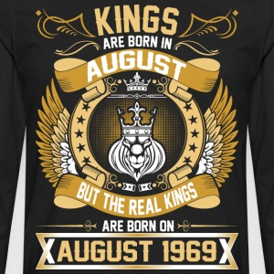 The Real Kings Are Born On August 1969 T-Shirts - Men's Premium Long Sleeve T-Shirt