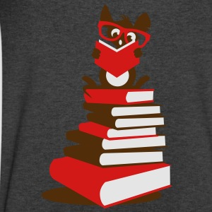 A small rat reads Long Sleeve Shirts - Men's V-Neck T-Shirt by Canvas