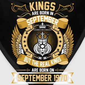 The Real Kings Are Born On September 1970 T-Shirts - Bandana