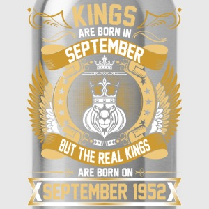 The Real Kings Are Born On September 1952 T-Shirts - Water Bottle