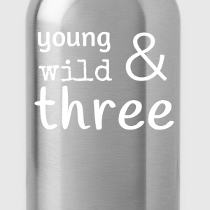 Young wild & three  Kids' Shirts - Water Bottle