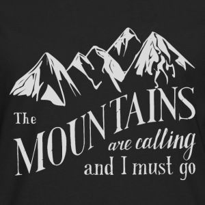 the mountains are calling - Men's Premium Long Sleeve T-Shirt