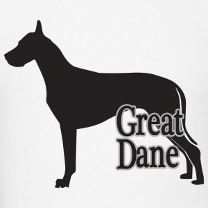 Silhouette of a Great Dane  - Men's T-Shirt