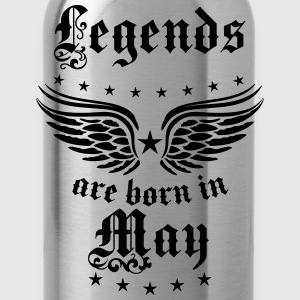 Legends are born in May birthday Vintage Stars sex - Water Bottle