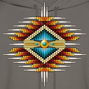 Native American Beadwork 19 - Men's Hoodie