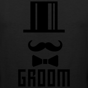 Groom Bachelor Party Face Cylinder deluxe T-Shirt - Men's Premium Tank