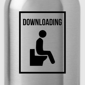 DOWNLOADING POOP TODAY Tanks - Water Bottle