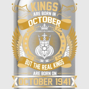 The Real Kings Are Born On October 1941 T-Shirts - Water Bottle