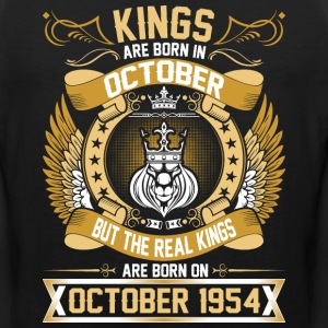The Real Kings Are Born On October 1954 T-Shirts - Men's Premium Tank