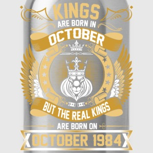 The Real Kings Are Born On October 1984 T-Shirts - Water Bottle