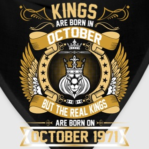 The Real Kings Are Born On October 1971 T-Shirts - Bandana