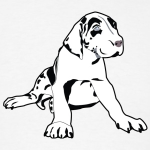 Great Dane Puppy - Men's T-Shirt