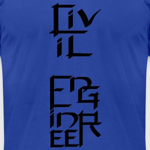 Civil Engineer Character Tanks - Men's T-Shirt by American Apparel