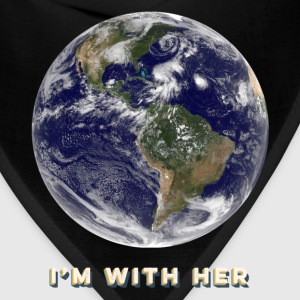 I'm With Her - Earth - Kids T-Shirt - Bandana
