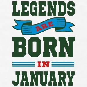 Legends Are Born In January Mugs & Drinkware - Men's T-Shirt