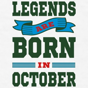 Legends Are Born In October Mugs & Drinkware - Men's T-Shirt