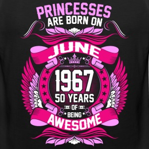 Princesses Are Born On June 1967 50 Years T-Shirts - Men's Premium Tank