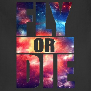 Fly or Die: Cosmic Hipster Space Cool Art Swag - Adjustable Apron