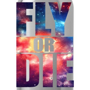 Fly or Die: Cosmic Hipster Space Cool Art Swag - Water Bottle