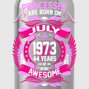 Princesses Are Born On July 1973 44 Years T-Shirts - Water Bottle
