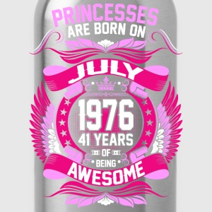 Princesses Are Born On July 1976 41 Years T-Shirts - Water Bottle