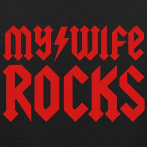 My wife rocks T-Shirts - Men's Premium Tank