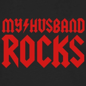 My husband rocks T-Shirts - Men's Premium Long Sleeve T-Shirt
