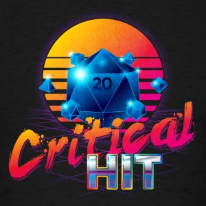 Critical Hit Dungeons & Dragons d20 - Men's T-Shirt